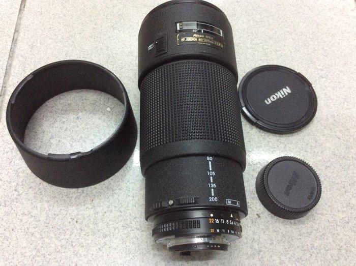 [保固一年] [高雄明豐] Nikon AF 80-200mm F2.8 D ED 小黑三 望遠 變焦鏡