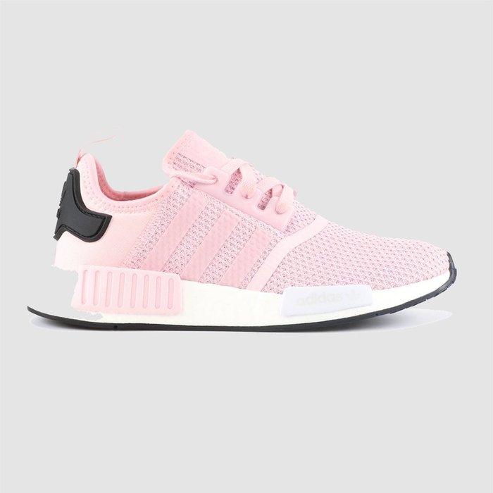 【QUEST】ADIDAS NMD R1 女鞋 休閒 BOOST 粉紅色 白粉 粉白 櫻花粉 黑尾 B37648