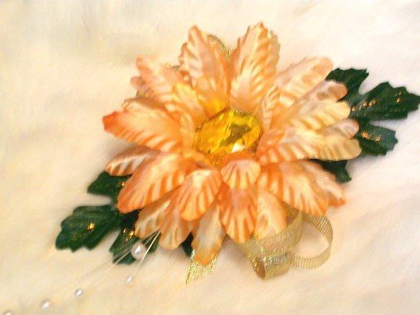 B. & W. world *美美的花飾*R13009*單朵太陽花造型胸花*三款*重陽團花