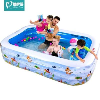 倍護嬰 兒童游泳池充氣家庭嬰兒成人家用寶寶加厚小孩超大號水池 全場88折