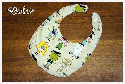 ♥gritas handmade♥純棉手作嬰幼兒圍兜兜/領巾/口水巾/三角巾/彌月禮—萬聖節變裝PARTY