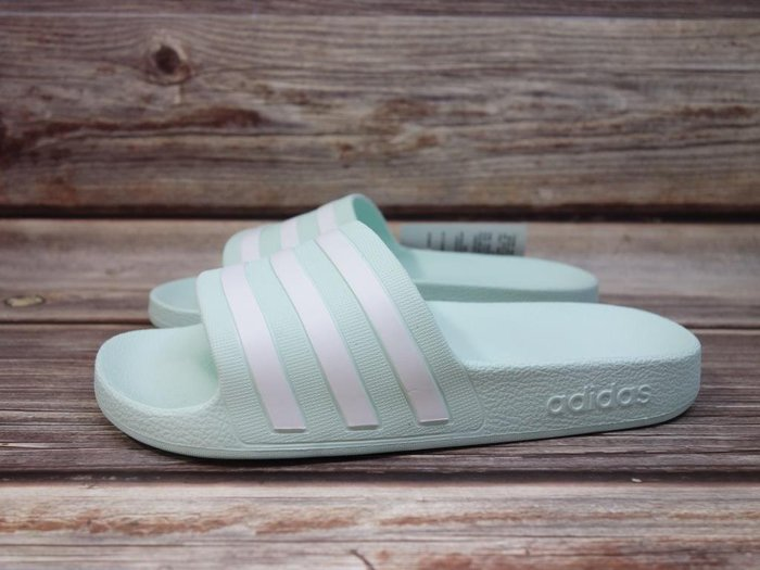 [麥修斯] ADIDAS ADILETTE AQUA 拖鞋 防水 海邊 舒適 蒂芬妮綠 女款10 G28713