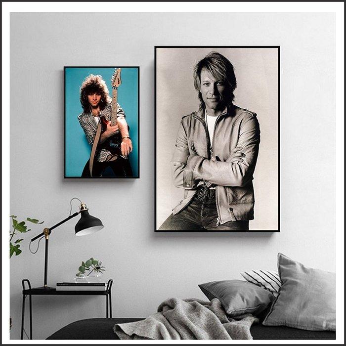 日本製油畫布 明星海報 邦喬飛 Bon Jovi 掛畫 裝飾畫 @Movie PoP 賣場多款海報#