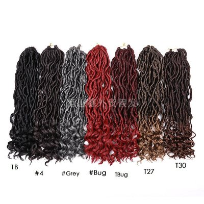cosplay專賣~Goddess locs Crochet Braids Faux Locs Curly Hair Extensions