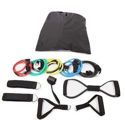 【健魂運動】12套件 彈力繩訓練組(12 PCS Resistance Cords Set)