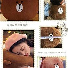布朗熊🐻🐻🐻可暖手 午睡枕  抱枕 背枕 靠墊 腰枕 🎉現貨熱銷中🎉