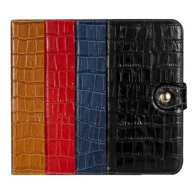 IPhone 12 Pro Max 12 mini 真皮革保護套頭層牛皮真皮鱷魚紋翻蓋扣帶皮套手機套