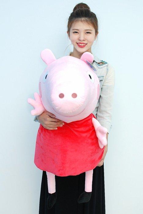 拉拉小站~超大佩佩豬娃娃~正版~PeppaPig~粉紅豬小妹~喬治豬/豬玩偶~最受歡迎玩偶