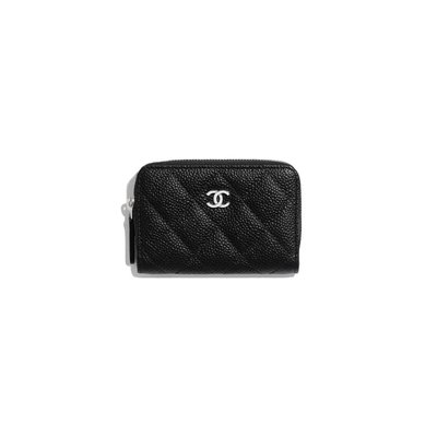 CHANEL 荔枝牛皮拉鍊零錢包  CLASSIC ZIPPED COIN PURSE