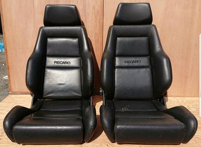 FS日本代購代標~中古美品 皮質RECARO LS 經典賽車椅BENZ.BMW.E30.JDM CIVIC.VW.190E.PORSCHE.老車,古董車.老椅