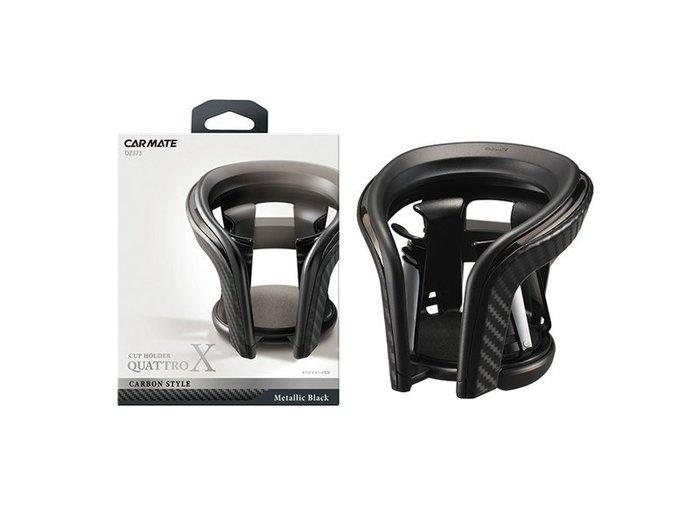 CARMATE 碳纖調冷氣孔杯架金屬黑