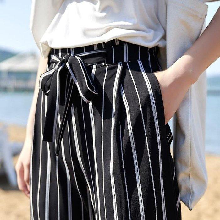 中大尺碼 寬褲女長褲夏季薄款女褲寬鬆顯瘦休閒寬腿直筒褲 nm1420