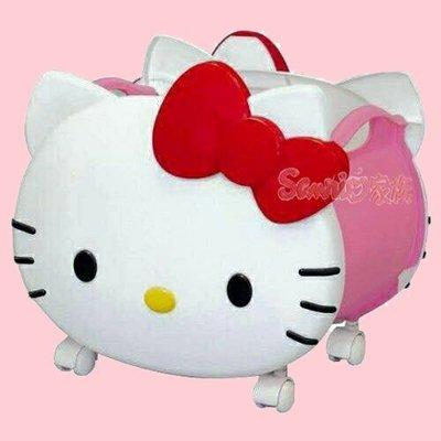 《東京家族》三麗鷗大臉HELLO KITTY 凱蒂貓大空間收納箱滾輪式