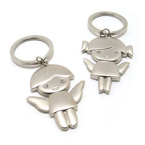 ☆創意小物店☆情侶鑰匙扣(小天使) 鑰匙圈/創意可愛金屬鑰匙圈 時尚造型個性飾品