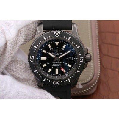 Breitling 百年靈 海洋系列 黑鋼 圈自動機械腕錶 男士機械腕錶  免