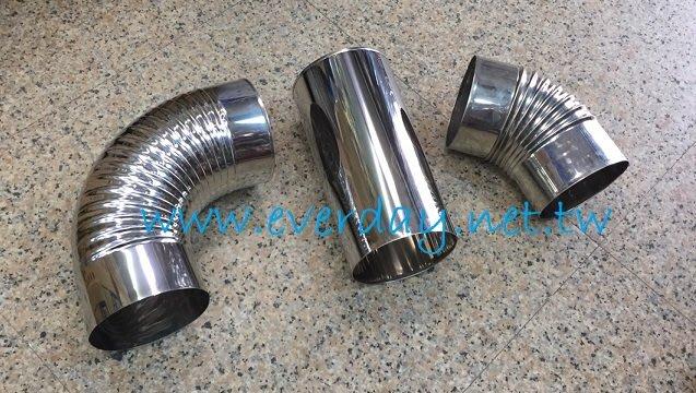 (永展) 白鐵 一尺直管 ST油煙管 排煙管 排風管 風管 彎頭 45度