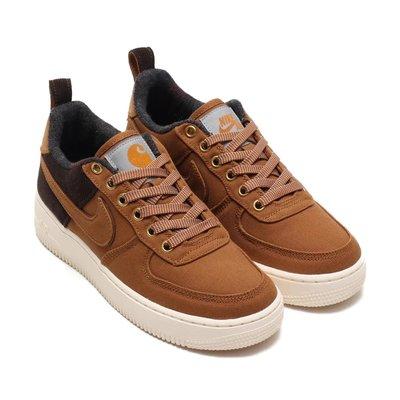 =CodE= NIKE AIR FORCE 1 X CARHARTT WIP 燈心絨籃球鞋(咖啡黑)AV4113-200