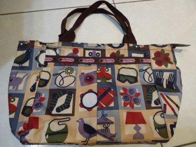 Lesportsac 手提包,寬度:37cm,高度:23cm,少用極新,降價大出清