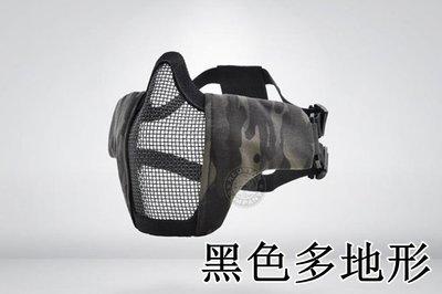 [01] CM1 武士 半罩式 黑CP ( 護目鏡眼罩防護罩面罩面具口罩護嘴護具防彈頭套頭巾鳥嘴射擊cosplay