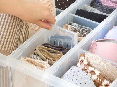 免運/ LF1004六入組隔板整理盒(附輪)/PP收納盒/透明整理箱/內衣收納箱/冰箱收納/置物箱/整理盒/無印風格