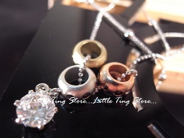 Little Ting Store:多層重疊項鍊 球球3個圈圈飾品+單顆鑽 短項鍊串鏈珠頸鍊 鎖骨鏈