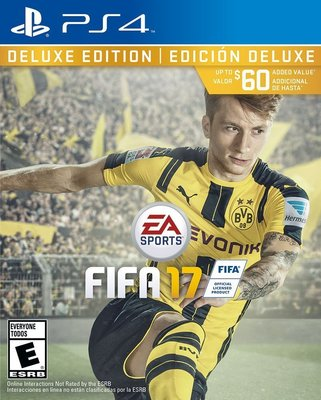 FIFA 17 PlayStation 4 Deluxe Edition 美版 豪華版