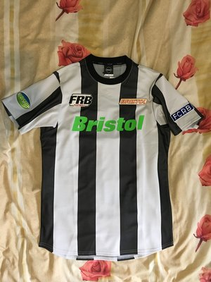 F C Real Bristol FCRB STRIPE S/S TRAINING TOP FRAGMENT SOPH