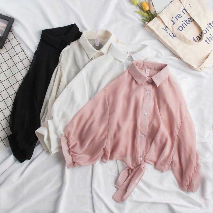 (特價)韓版氣質雪紡縷空百搭小披肩短版防曬外套小罩衫