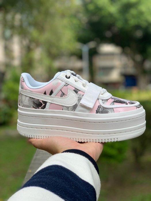 【Basa Sneaker】NIKE WMNS VANDAL 2K 粉白色 花卉 厚底增高 AQ7892-100