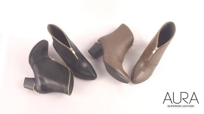 AURA[歐美凡登。牛皮簍跟短靴]-魅影黑/荒原灰(4~9)大小尺碼