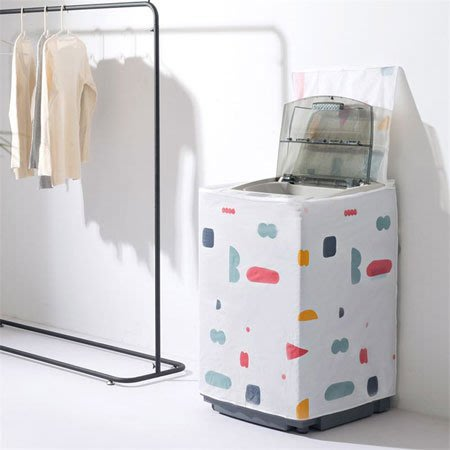 洗衣機防塵罩 滾筒式 翻蓋式 防曬防水布套 防塵罩 上開 前開 居家 洗衣機罩 防塵【SA Girl】