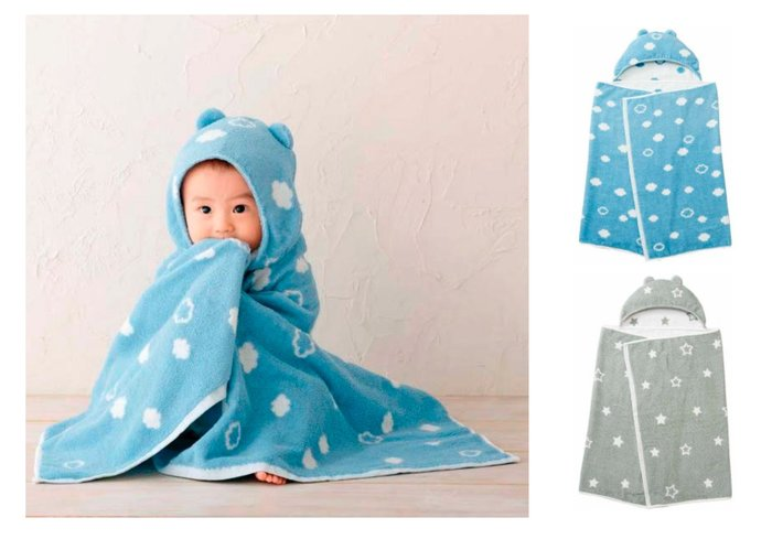日本直購 阿卡將 寶寶包巾 連帽 浴巾 柔軟 吸水 毛巾