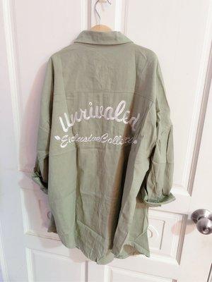 美式風格襯衫 罩衫 淺綠 全新