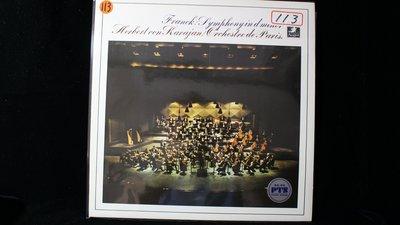【198廣場】法朗克-SYMPHONY IN D MINOR(巴黎交響/卡拉揚.......日版)LP/K