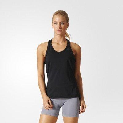 【吉米.tw】全新正品 adidas WORKOUT 女 黑色全黑 背心 排汗 女款 上衣 運動服飾  BK2657