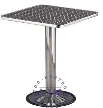 【品特優家具倉儲】R108-13餐桌302電鍍圓盤鋁框方桌洽談桌