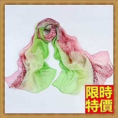 絲巾 真絲質圍巾-教師節熱銷時尚花色女性披肩14色71s10[獨家進口][米蘭精品]