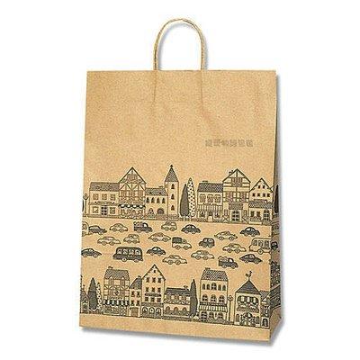 【寵愛物語包裝】日本進口 牛皮 NEW TOWN 包裝袋 禮品袋 手提紙袋 50入 2才
