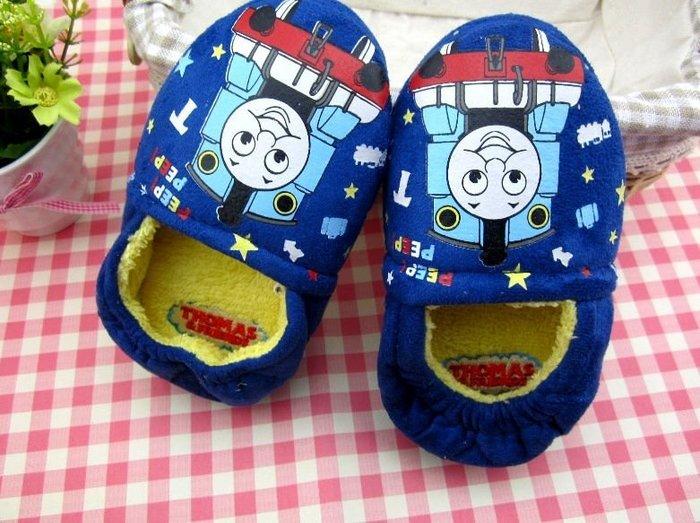 ☆草莓花園☆A01 小火車 兒童保暖拖鞋 家居鞋 兒童棉鞋 室內拖鞋 嬰兒保暖鞋