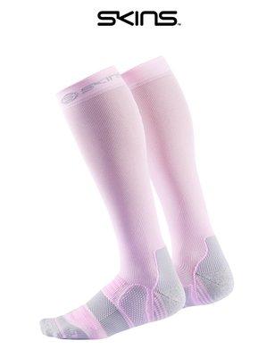 【美國代購】SKINS 專業壓力襪/壓縮腿襪 - 粉紫-S