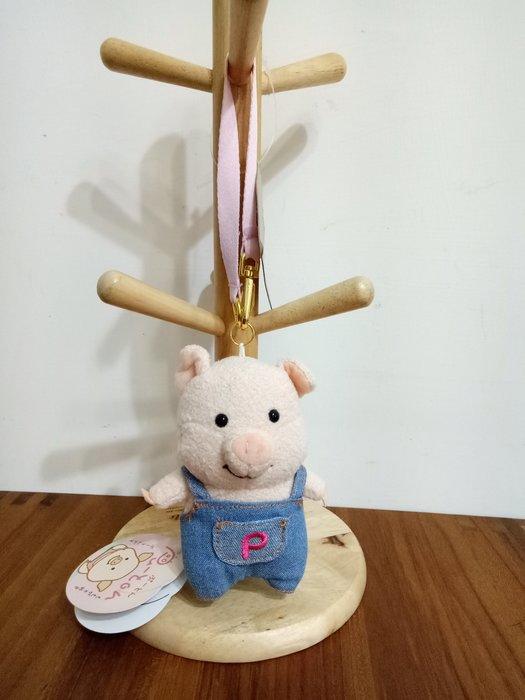 天使熊雜貨小鋪~日本ぷーとん マスコット(デニム)  小豬吊飾  全新現貨