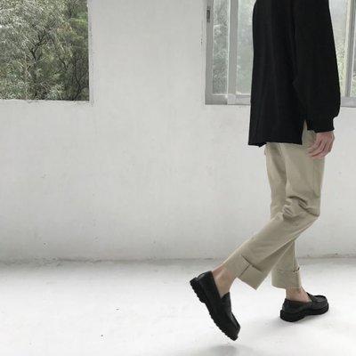 【NoComment】零碼出清 韓系 街頭休閒 質感簡約 寬直筒休閒長褲 兩色 東大門 ZARA