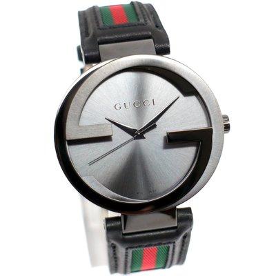 GUCCI YA133206 古馳 手錶 義大利 雙G錶殼 經典紅綠配色 皮帶 對錶 42mm 大尺寸