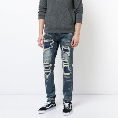 God's Masterful Children distressed skinny jeans 男仿舊緊身單寧褲 限時折扣代購中