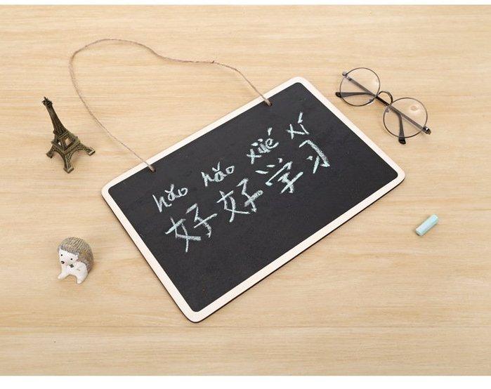 [MIBO婦幼生活用品]木製小黑板 小孩塗鴉 家庭留言板 厚款