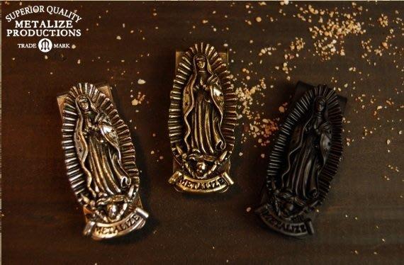 (I LOVE樂多)METALIZE Blessed Virgin Mary Money 聖母鈔票夾old school