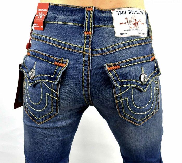 @限時超特價@51%OFF@TRUE RELIGION SUPER T rocco牛仔褲 粗線