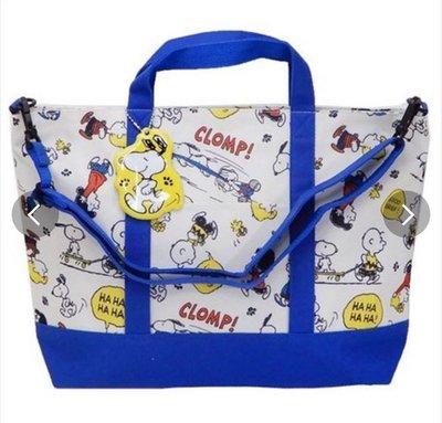 (現貨)聚酯 約44x29.5x10cm 防水 2Way 畫袋 手提文件袋 連名牌 Peanuts Snoopy 史努比 日本直送 全新品