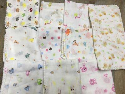 【寶貝屋】 西松屋純棉雙層紗布巾/口水巾/洗澡巾