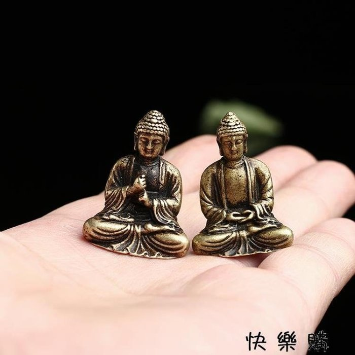 小擺件古玩銅佛微雕仿古佛像銅佛